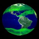 Représentation de la distribution de méthane autour de la Terre (crédit photo : NASA Image)