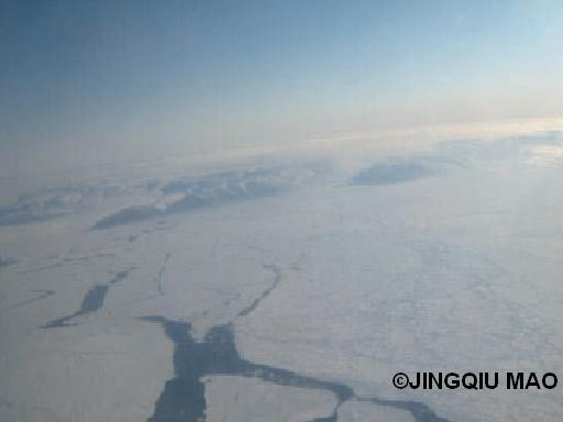 Brume polluée au-dessus de l'Arctique