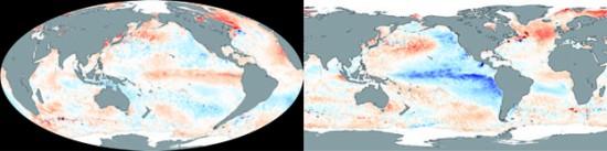 Température du Pacifique El Niño-La Niña