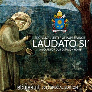 Page couverture de l'Encyclique écologique du Pape François