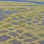 Lacs créés par la fonte du pergélisol