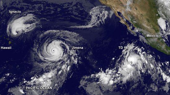 Cyclones dans le Pacifique