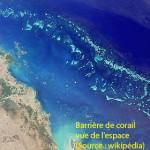 Barrière de corail vue de l'espace