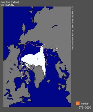Couvert glacé Arctique