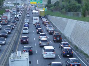 Embouteillage sur autoroute