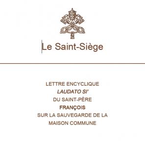 Première page de l'encyclique Laudato si du pape François