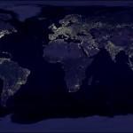 Lumières vues de la terre