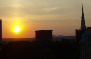 Soleil couchant-Ville