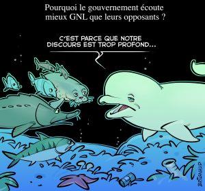 Caricature GNL Québec de Pierre Brignaud